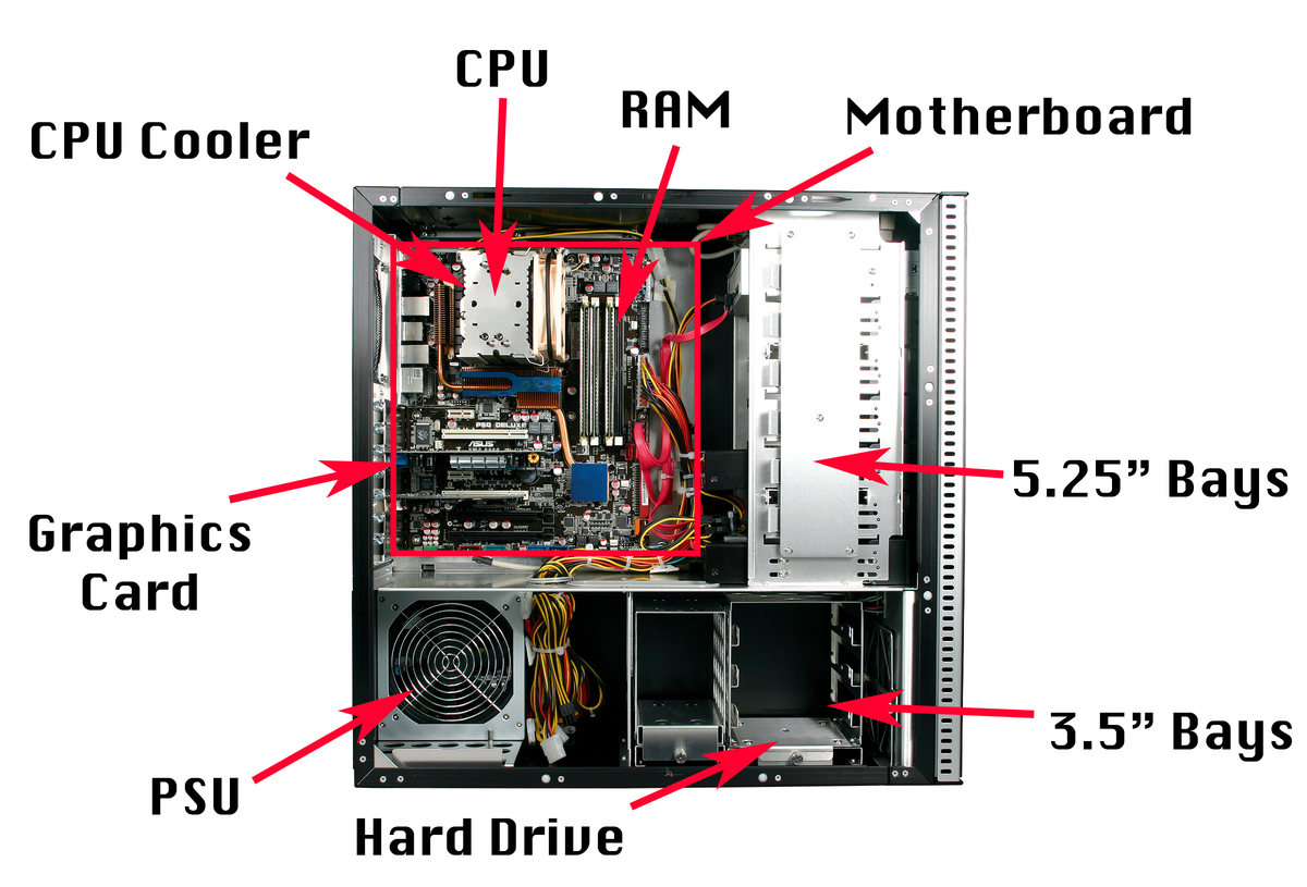 Give A Labelled Diagram Of The Cpu And It S Parts