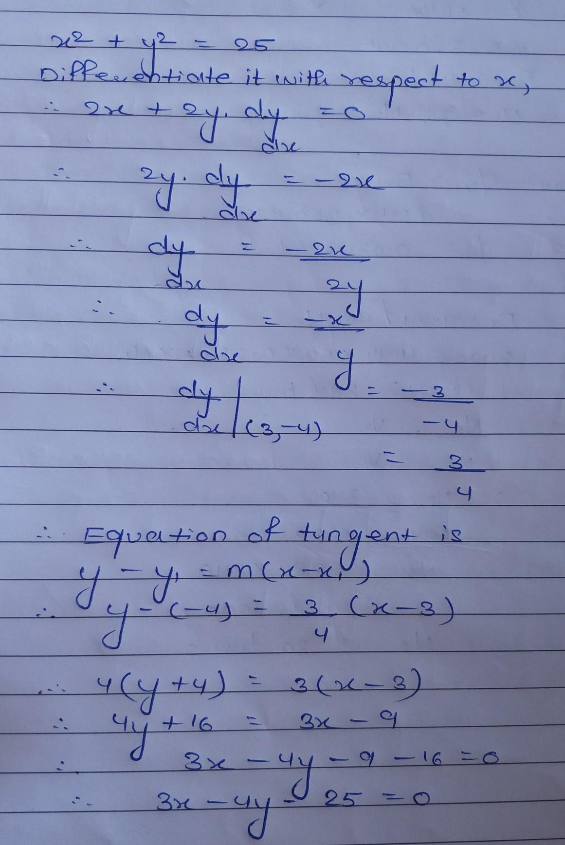 How Do You Find An Equation For The Line Tangent To The