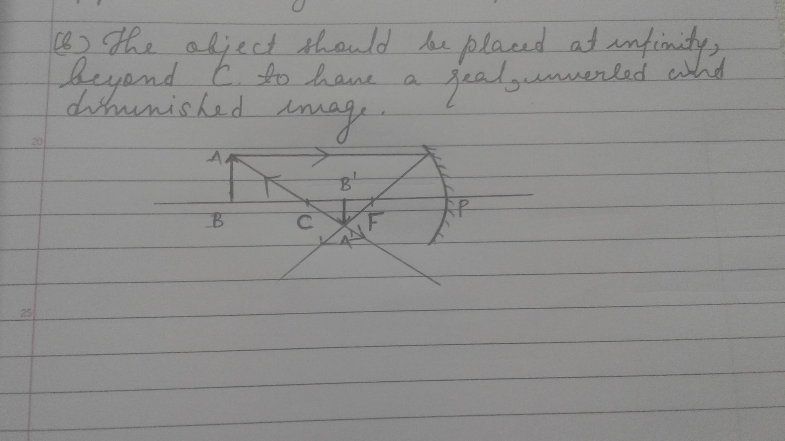 For What Position Of The Object Does A Concave Mirror Form