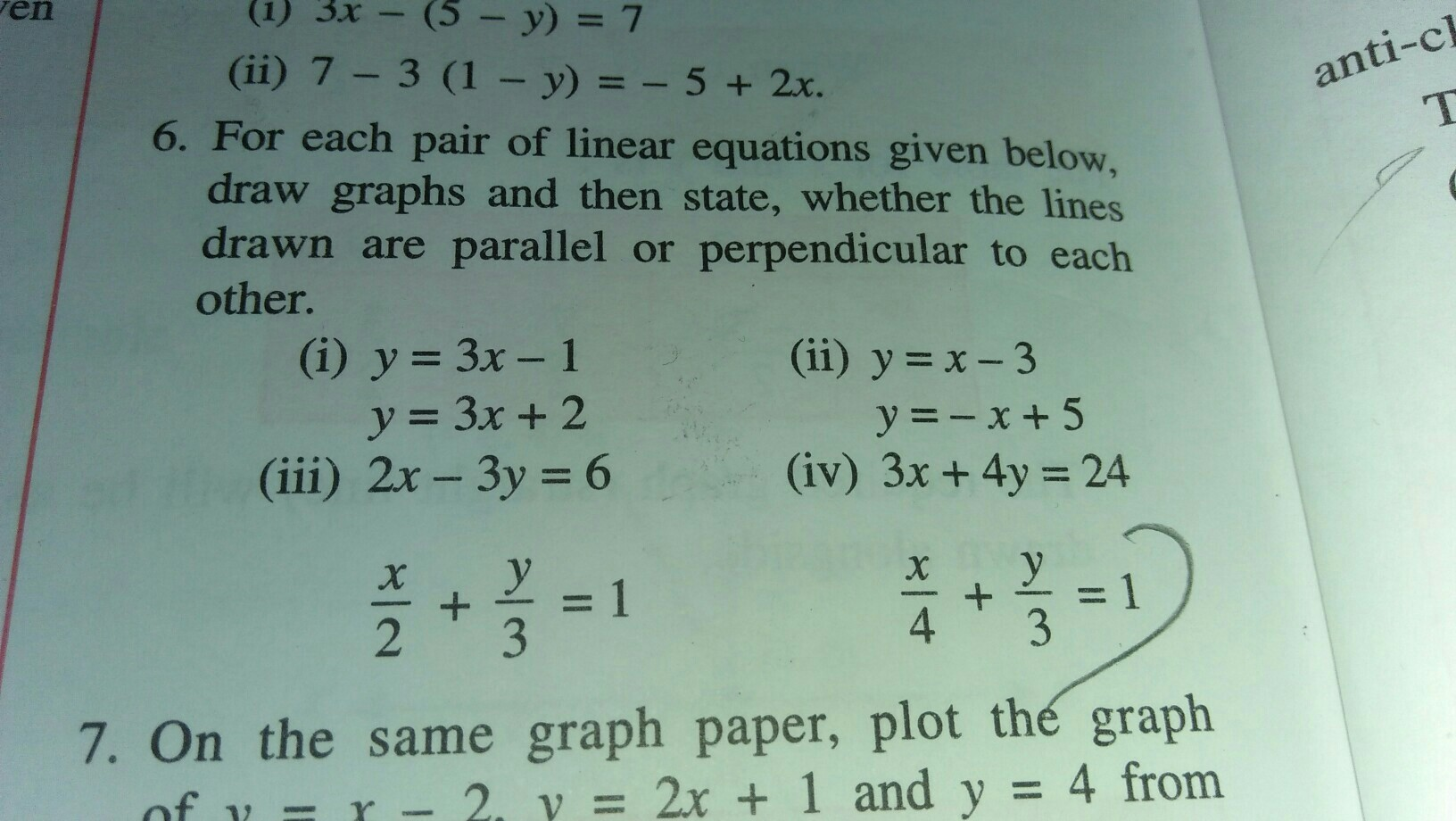 Graph Linear Equation Y 3x 1