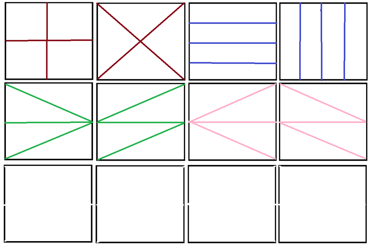 How Many Ways A Rectangle Can Be Cut Into 4 Equal Parts