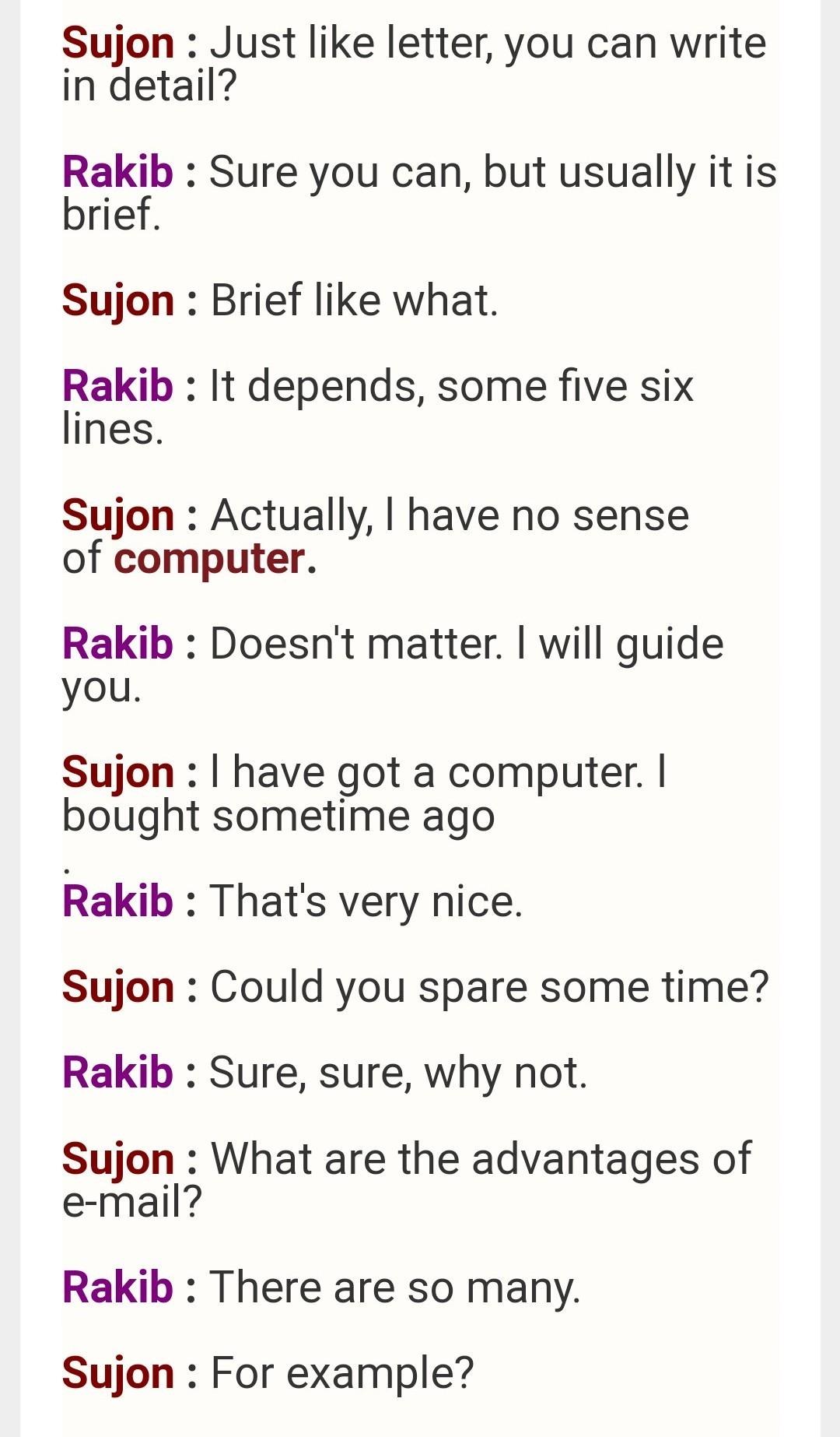 Dialogue Between Two Frnds Having Conversation Reguesting