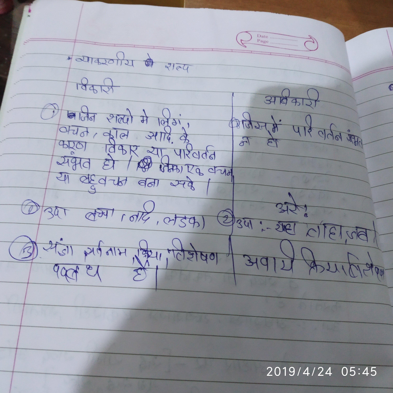 Vikari Aur Avikari Shabd Kise Kehete Hain