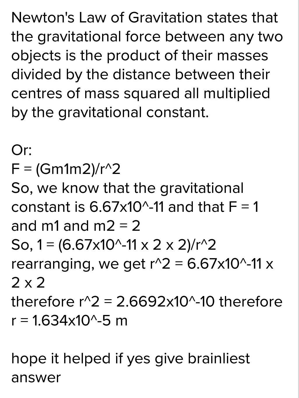 How To Find Gravitational Force Between Two Masses