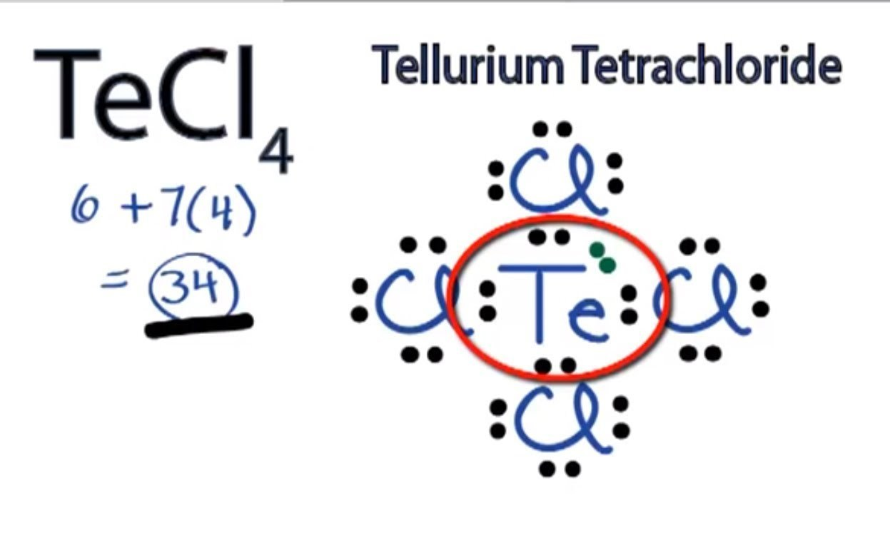 Starting From Lewis Structure Determine The Hybridization Types Of The Central Atom Of Tecl4 And