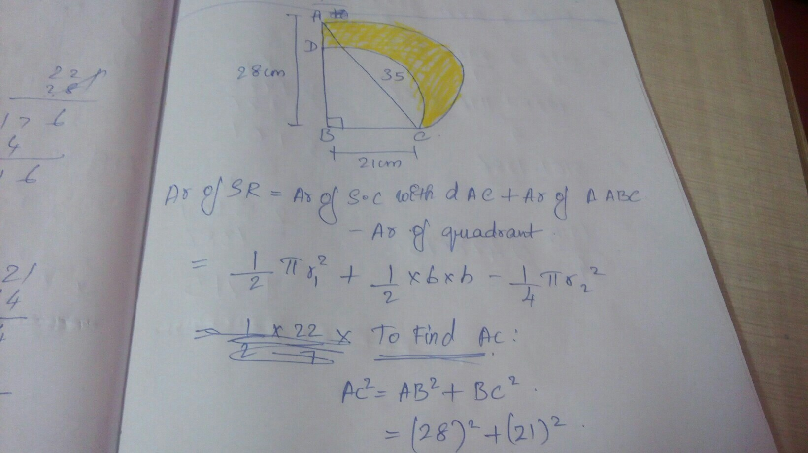 In Fig Abc Is A Right Angled Triangle Angle B 90 Ab