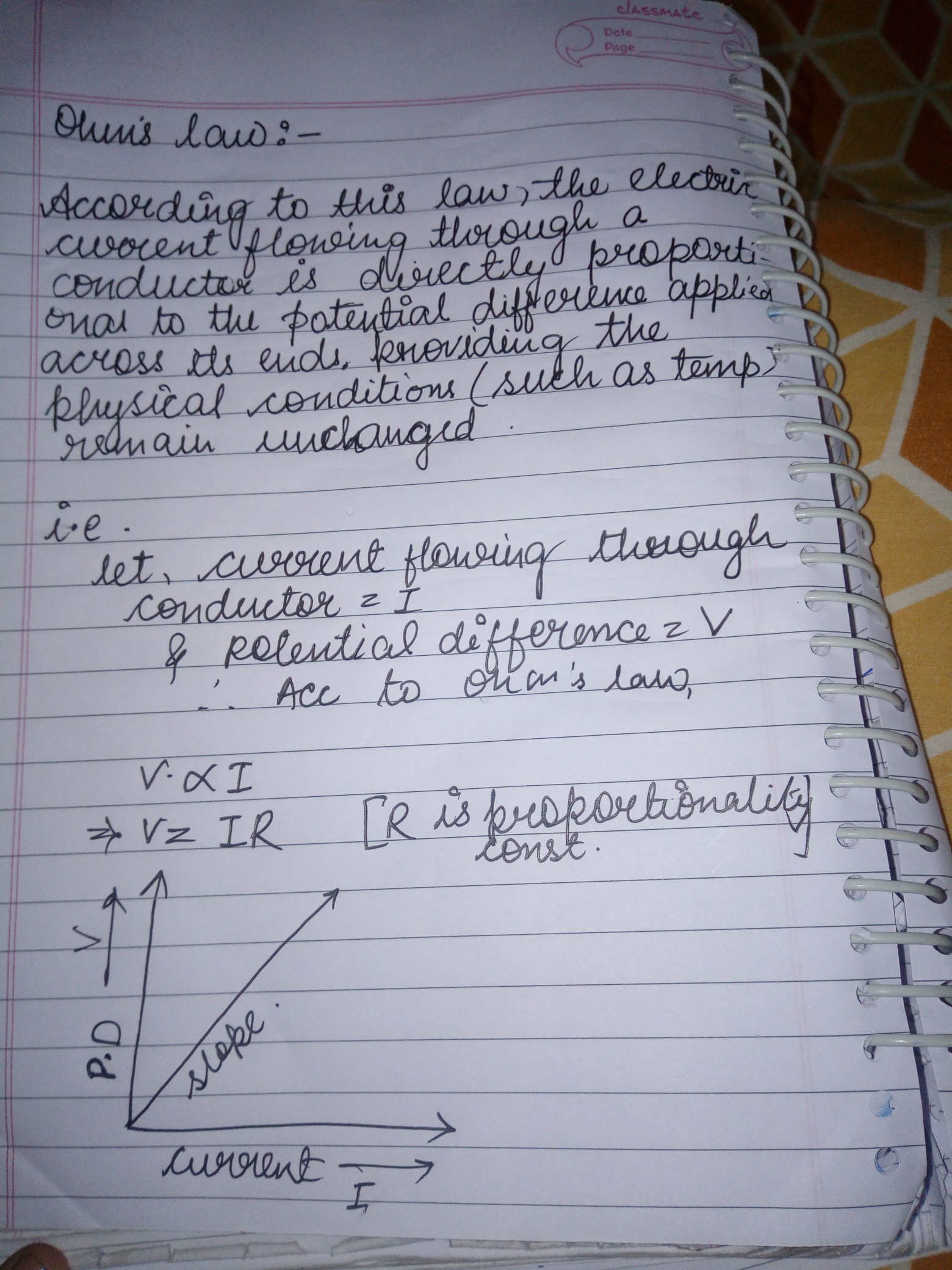 7 Express Ohm S Law Both By A Mathematical Formula And By