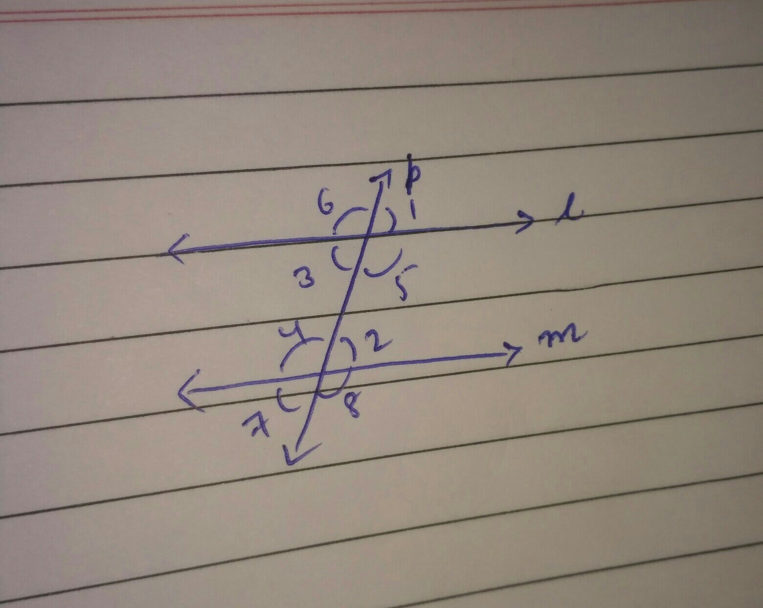 Prove If A Transversal Intersects Two Parallel Lines Then