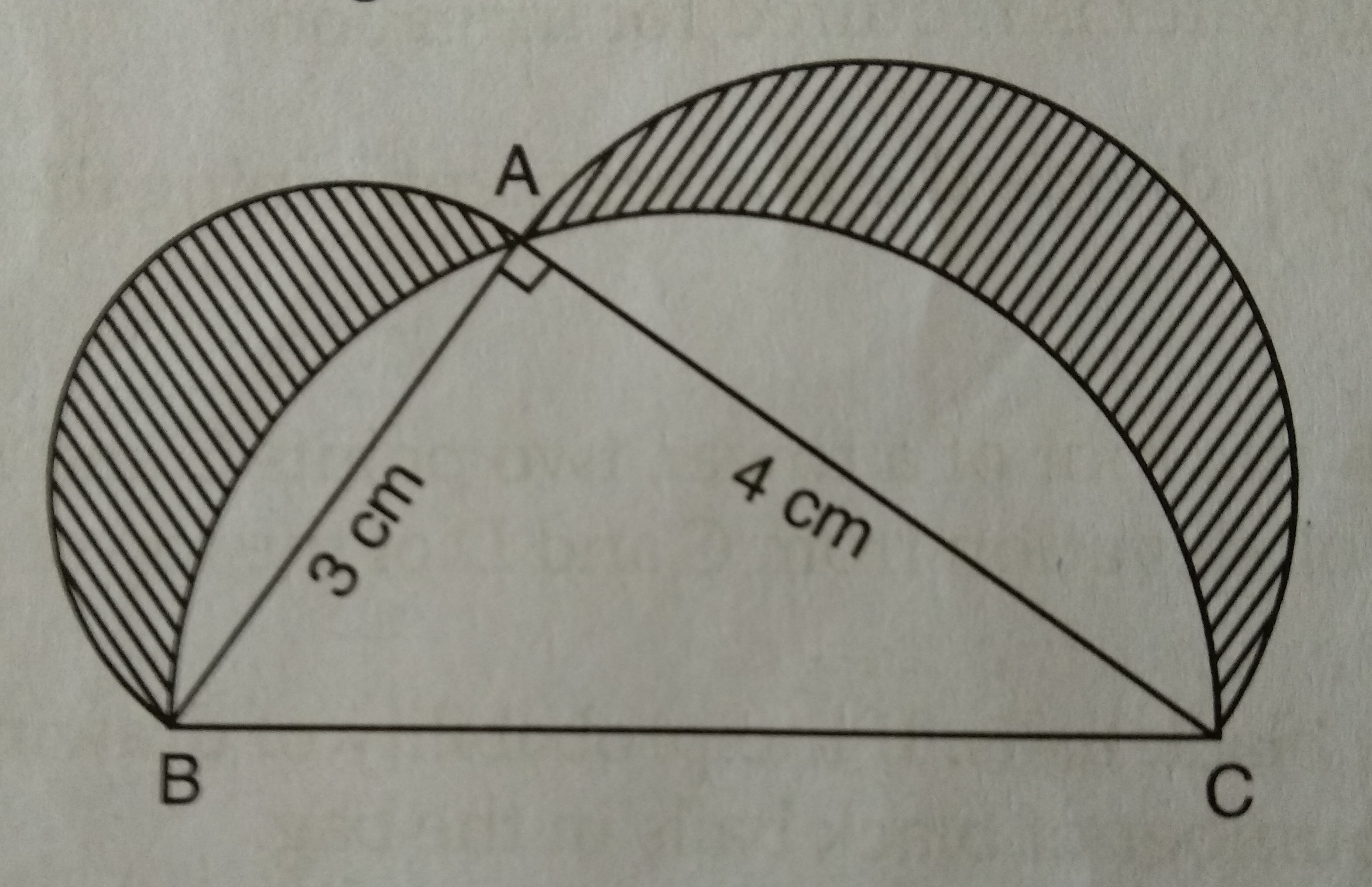 In The Given Figure Triangle Abc Is A Right Angle Triangle