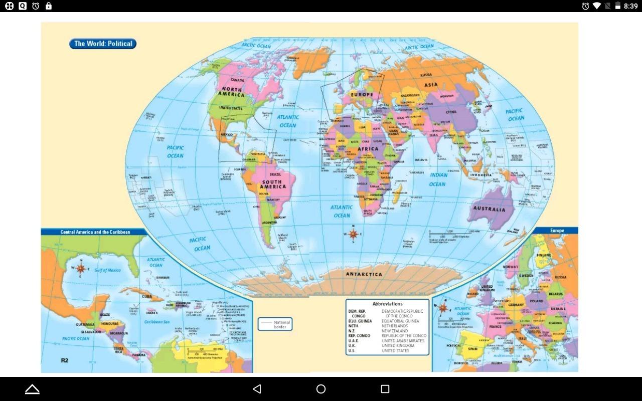 Global Map With Latitude And Longitude