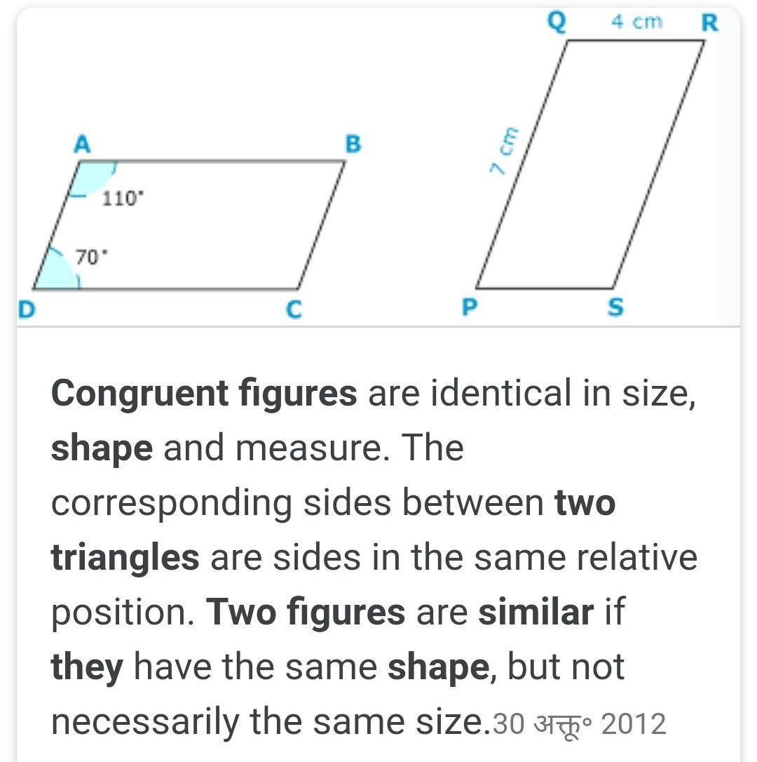 Draw Two Congruent Figures Are They Similar Explain