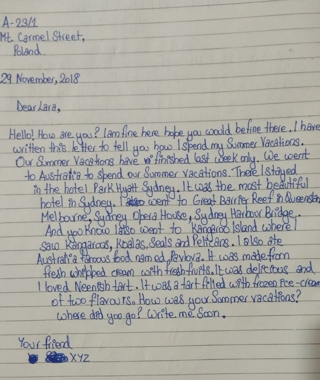 Letter Writing Holiday
