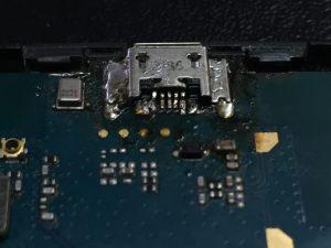 LG H324 сломано гнездо зарядки. Ремонт
