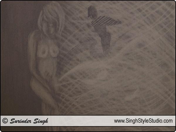 आधुनिक चित्रकला दिल्ली भारत चित्रकार सुरिन्दर सिंह कलाकार दिल्ली