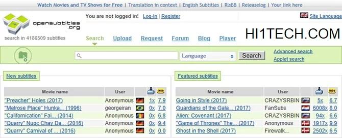 أفضل ثلاث مواقع لترجمة الأفلام