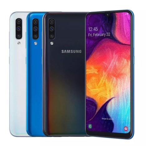 سامسونج جالاكسي A50 افضل 10 هواتف من الفئة المتوسطة بسعر أقل من 300 دولار 2019