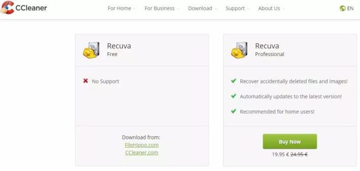 برنامج استعادة المحذوفات ريكوفا Recuva