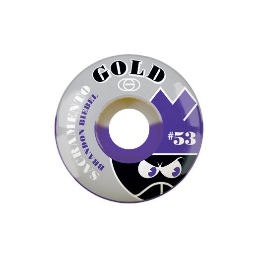 Gold Wheels スケボー スケートボード ウィール SACTO Brandon Biebel 53mm