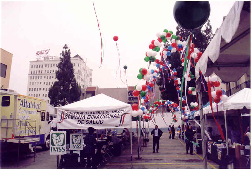 Booth with balloons