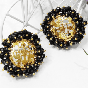 Black Cutwork Earrings Pakistan