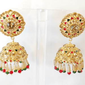 Gold Plated Jhumka Earrings design with Price in Pakistan 2021