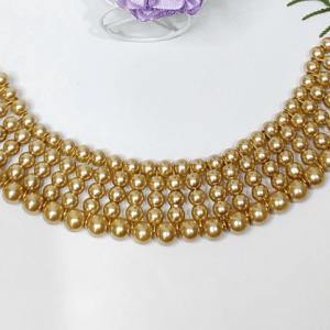 Golden Pearl Necklace Pakistan