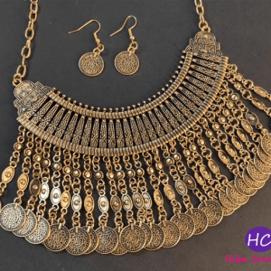 Latest Afghani Golden Set Design with Price in Pakistan 2021
