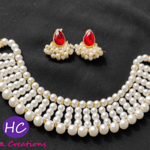 White Pearls Choker Set design with price in Pakistan 2021 Online