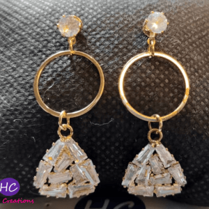 Golden Triangle Earrings design with Price in Pakistan 2021