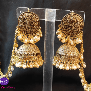 Antique Chain Jhumka Sahara Earring Design with Price in Pakistan 2021