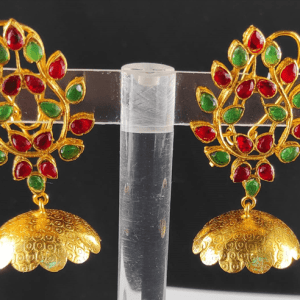 Leaf Shaped Jhumka Earrings Design with Price in Pakistan 2021