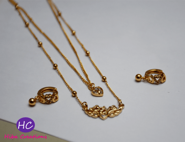 Beautiful Chain Necklace Set with earring Price in Pakistan 2021 Online