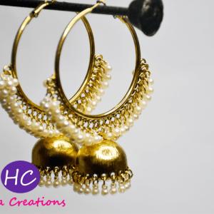 Golden Hoops Baliyan Designs with Price in Pakistan 2021 Online