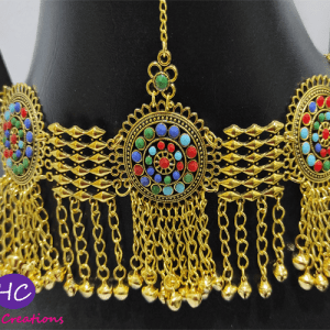 Afghani Golden Set with Earrings Design with Price in Pakistan 2021
