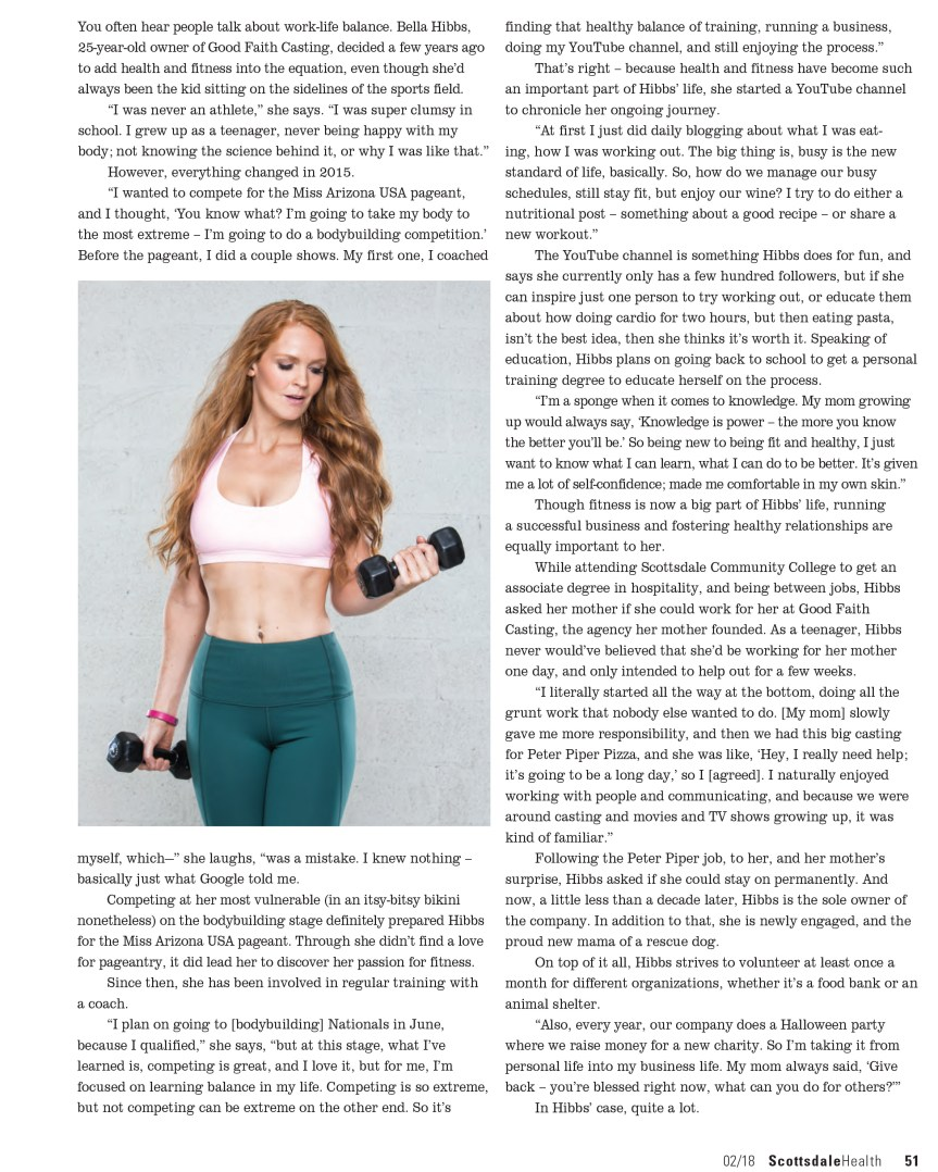 Bella Hibbs Fitness and Lifestyle Blogger Arizona Article