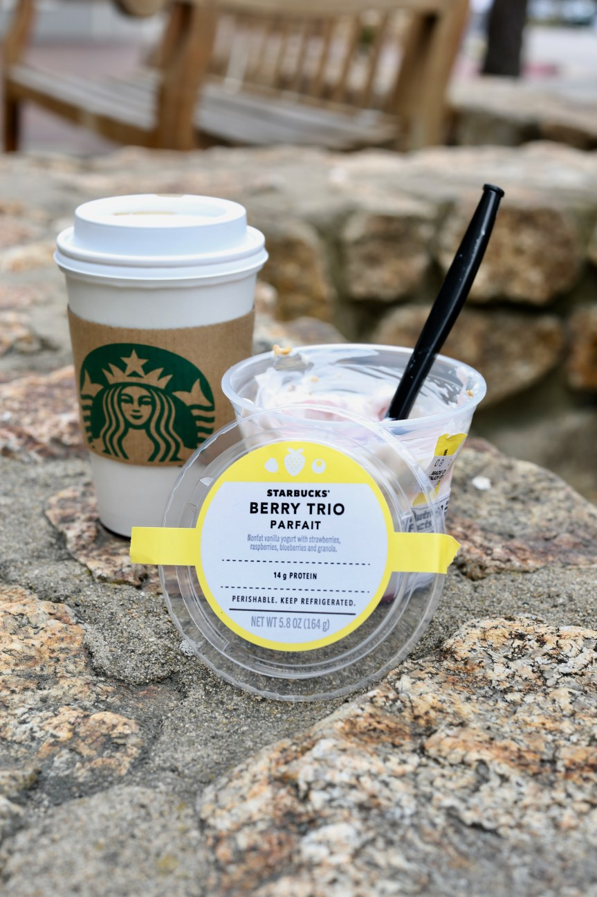 healthy snack and drink you can get at starbucks