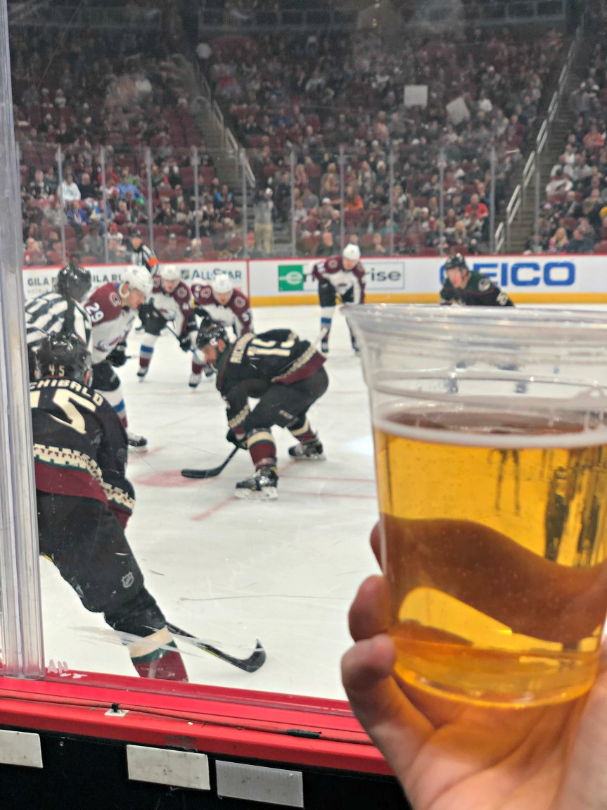 arizona coyotes game beer