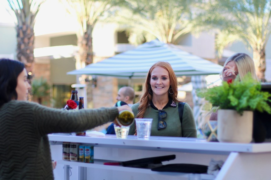 Blogger checking out the new Sip and Stroll at Desert Ridge