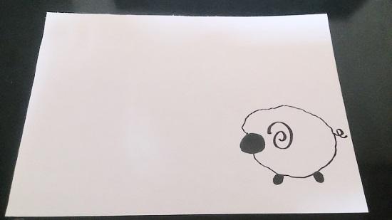 手書きの羊2