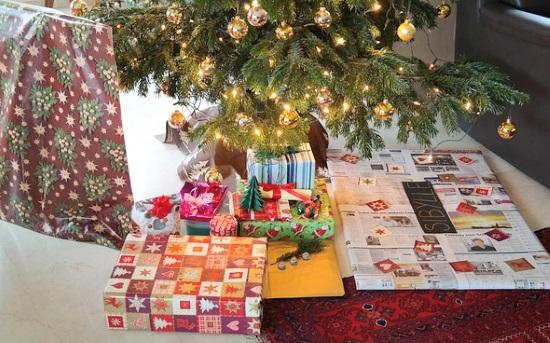 クリスマスプレゼントの簡単なラッピング