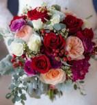 bouquet de mariée coloré