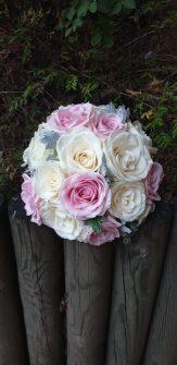 Bouquet de mariée rose et blanc