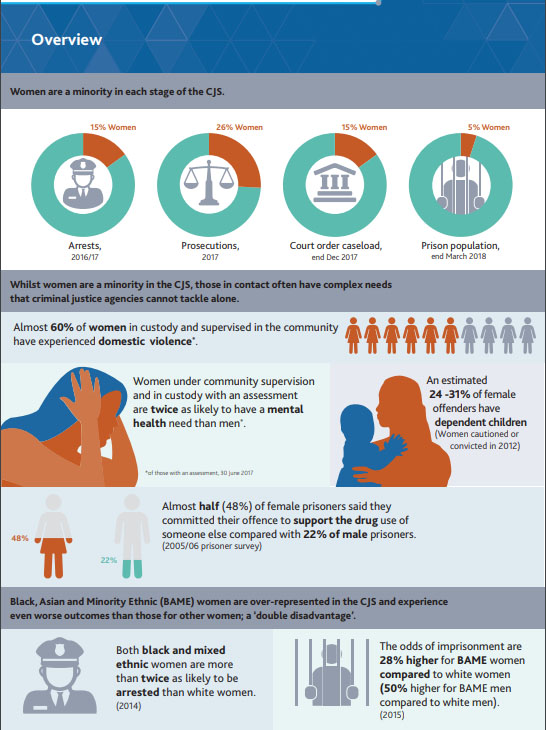 Ministry of Justice's Female Offender Strategy for women in the criminal justice system