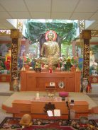 Buddhist Shrine at a Vietnamese Buddhist temple in Kentucky