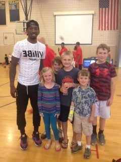 Russ Smith and the kids