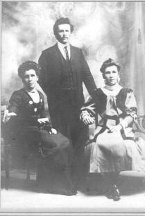 Catherine Alice, Charles Joseph & Ada Margaret Hicks - source Charles Hicks