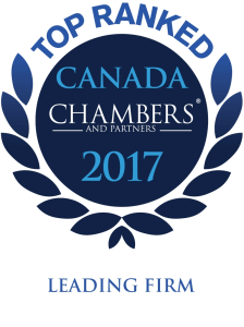 Chambers Canada 2017 Leading Firm
