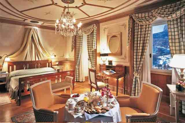 A superior room at Cristalo Hotel