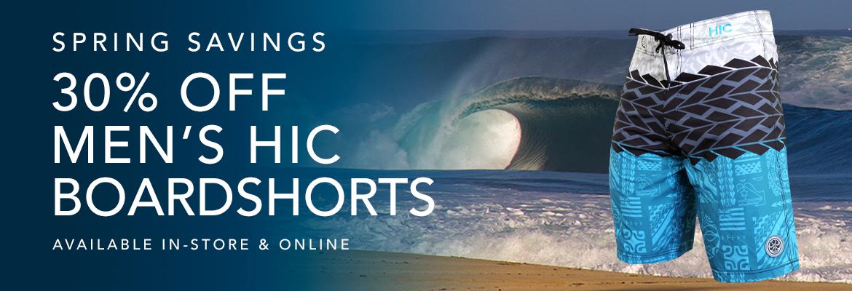 30% Off HIC Boardshorts