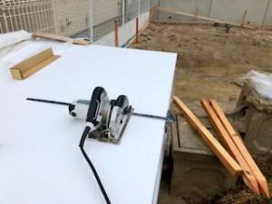 廿日市に建つ高性能注文住宅 基礎外断熱材
